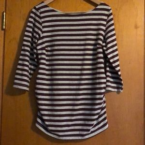 Striped H&M maternity tee, three-quarter sleeves